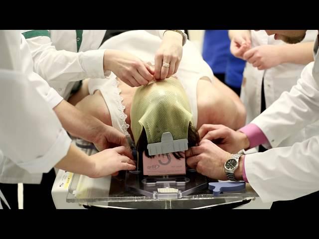 Cyberknife treatment for brain tumor