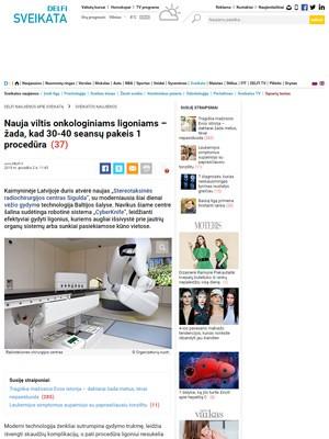 ``Nauja viltis onkologiniams ligoniams – žada, kad 30-40 seansų pakeis 1 procedūra``